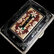 Rare Antique Coin Purse Karlsbad Specimen Mosaic