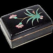 Chinese Trinket Box Enamel on Brass Cloisonné