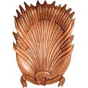 German Carved Bread Tray Spica Bunch