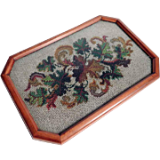 Late Victorian Charming Dresser Tray Beadwork Insert