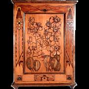 Art Nouveau Apothecary Cabinet Stunning Poker Work