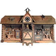 Handmade Miniature Farmhouse Parlor Diorama Music Box from Brienz