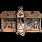Handmade Miniature Farmhouse Parlor Diorama Music Box from Brienz