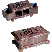 Darling Small Jewelry Casket Hand Carved ca. 1900