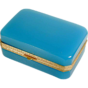 Beautiful Murano Opaline Casket Box