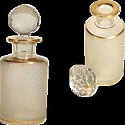 Antique French Crystal Perfume Bottle Saint Louis Cristalleries ca. 1900