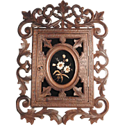 Gorgeous Keys Wall Cabinet Hand Carved Black Forest ca. 1900