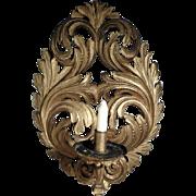Hand Carved  Sconce Golden Gilded 18C/19C