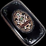 Victorian Era Pietra Dura & MoP Micro Mosaic Case