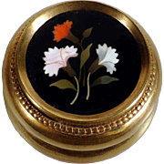 19th Century  Pietra Dura Box Grand Tour Souvenir
