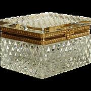 Delightful  Diamond Cut Crystal Casket  Box
