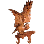 Gorgeous Hand Carved Rack Eagle Shape Hunting Scenery