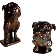 Gorgeous Pug Dog Hand Carved Brush Holder 1880/1900