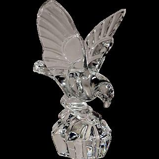 Val Saint Lambert Large Crystal Landing Eagle