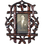 Pair of Matching Wall Frames Hand Carving Black Forest ca. 1920