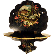 Lovely Wall Rack Papier Mache Landscape Edelweiss Flower