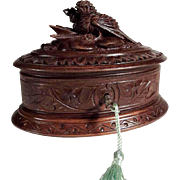 Hand Carved  Jewelry Casket ca. 1880 Black Forest