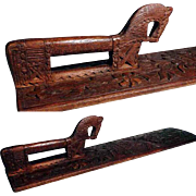 Scandinavian Folk Art Mangle Board Hand Carved Bride Gift Dated 1838