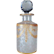 Antique French Baccarat Crystal Perfume Bottle ca. 1900