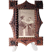 Chip Carved Wall Frame - Beautiful!