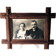 Tramp Art Wall Frame