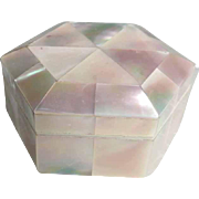 Trinket Box Mother of Pearl Marquetry