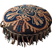 Footstool Cross Stitches Top about 1880