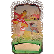 Embossed Board Dresdner Pappe  ca. 1950 Meadow Idyll