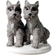 Porcelain Figurine Dogs Terrier Puppies