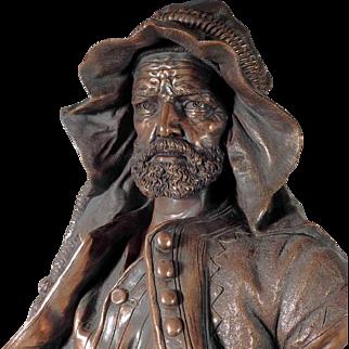 Fantastic Sculpture Arab Bust by Johan Maresch ca. 1880