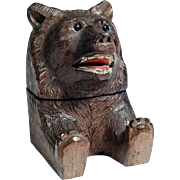 19th Century Black Forest Figural  Inkwell Bear