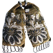 Misers Purse Money Belt Beadwork Crocheted ca. 1900
