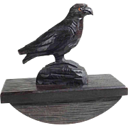 Hand Carved Blotter Eagle on Rock  - Decorate your Desk!