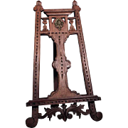 Large Hand Carved Wooden Miniature Picture Holder ca. 1920