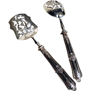 French Minerva Silver Hors D'oeuvres Serving Utensils