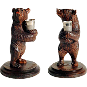 Darling Hand Carved Bear Thimble Holder Black Forest