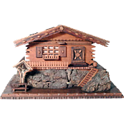Sewing Box Chalet Shape  Fantastic Details Secret Compartment