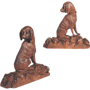 Excellent Hand Carved Chase Dog Black Forest