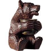 Hand Carved Bear Black Forest ca. 1880