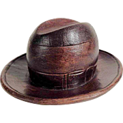 Hand Carved Ink Well Black Forest Hat Shape