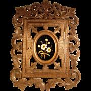 Superb Wall Cabinet Keys Hand Carved Black Forest ca. 1880