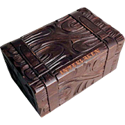 Hand Carved Box Case Shape Black Forest