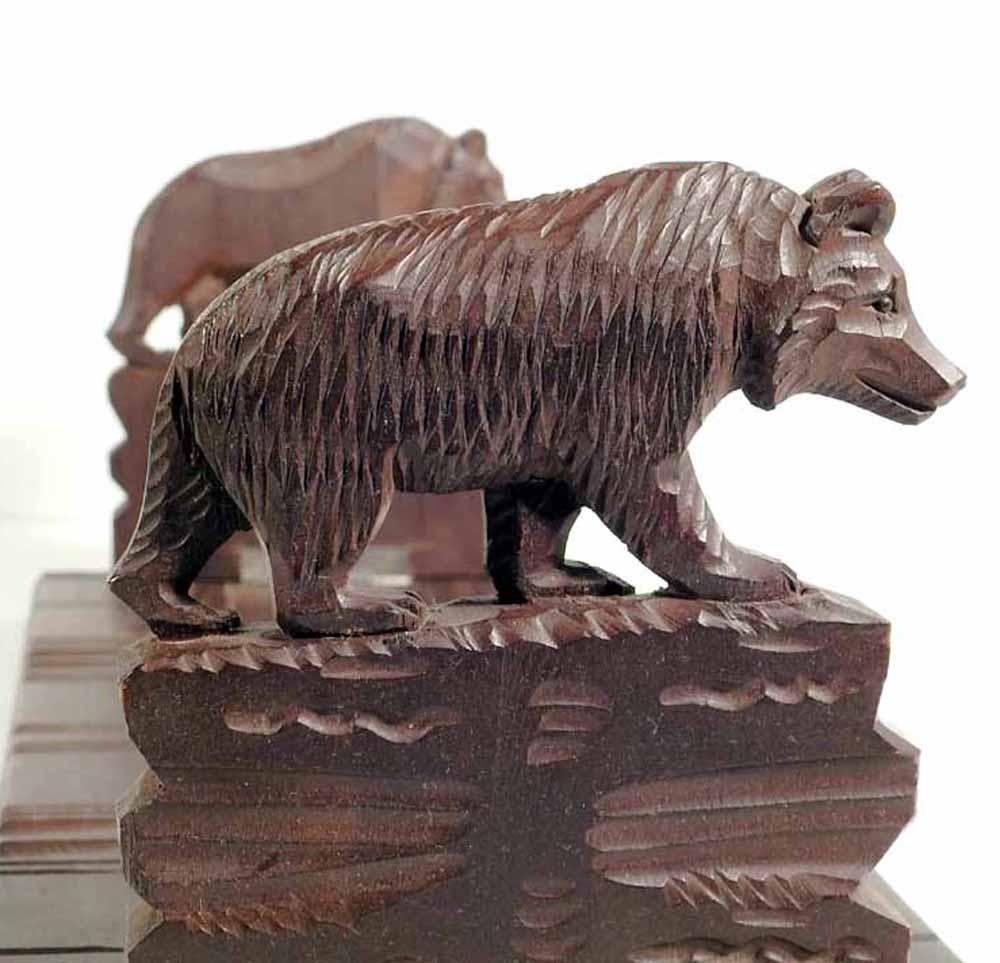 Hand carved book slide expandable rack bears ca