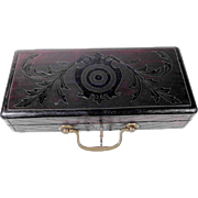 Whimsy Wooden Box ca. 1900 Cartridge Box