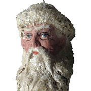 Lovely Hand Crafted Santa Head Papier Mache Christmas Ornament