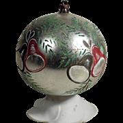 Large Beautiful Christmas Kugel  Hand Painted Bells