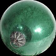 German  Green Kugel Christmas Glass Ornament