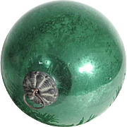 German  Green Kugel Christmas Glass Ornament