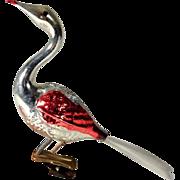 Bird on Clip Mercury Glass German Christmas Ornament