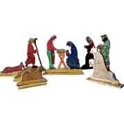 Folk Art Creche Crib Figurines ca. 1940